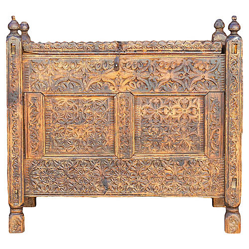 19th Century Carved Chest
