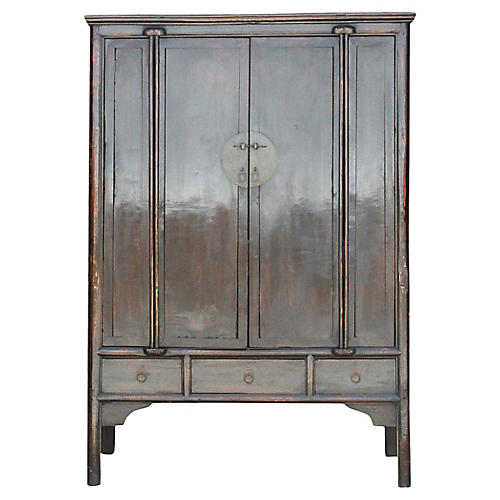 Grand Antique Chinese Marriage Armoire