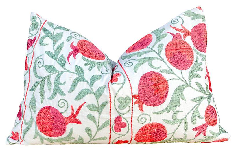 Pahi Pomegranate Lumbar Suzani Pillow