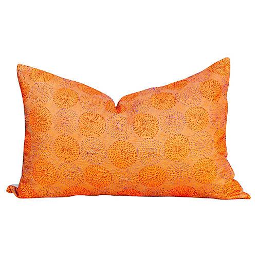 Alani Chakra Kantha Silk Pillow