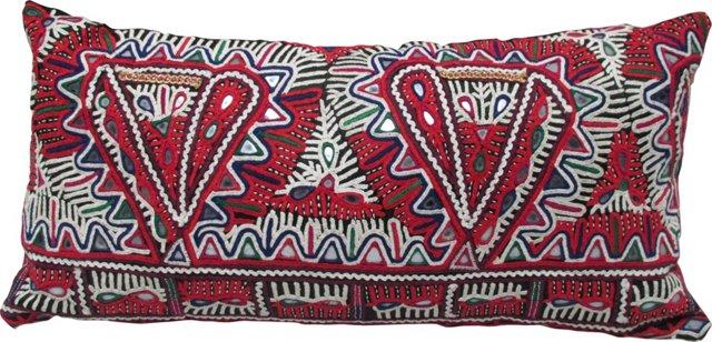 Timeworn Embroidered Moti Pillow