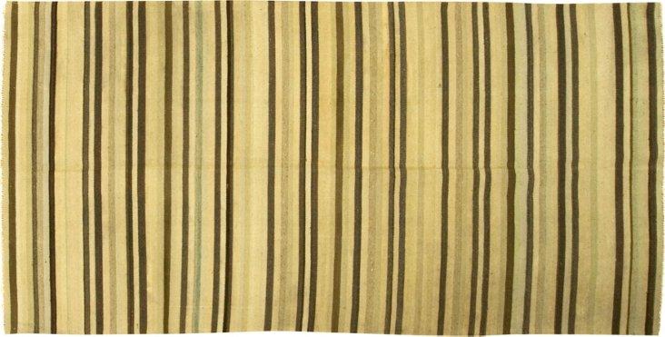 Turkish Hand Woven Kilim, 4'9 x 9'9