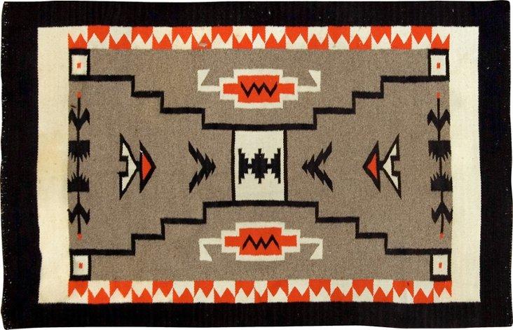 "Navajo Rug, 3'9"" x 5'10"""