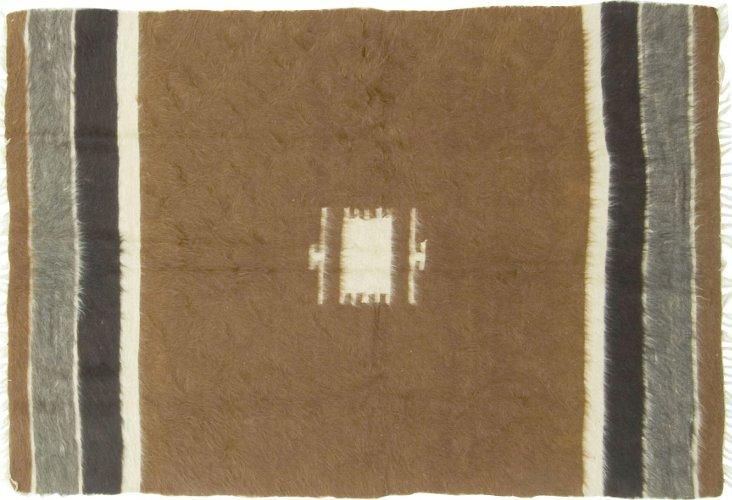 "Turkish Handowoven Mohair Rug, 6' x 4'3"""