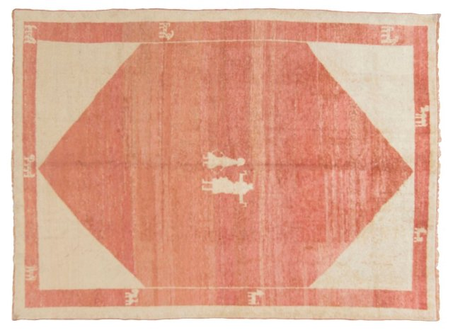 """Gabbeh Hand-Knotted Rug, 5'3"""" x 7'1"""""""