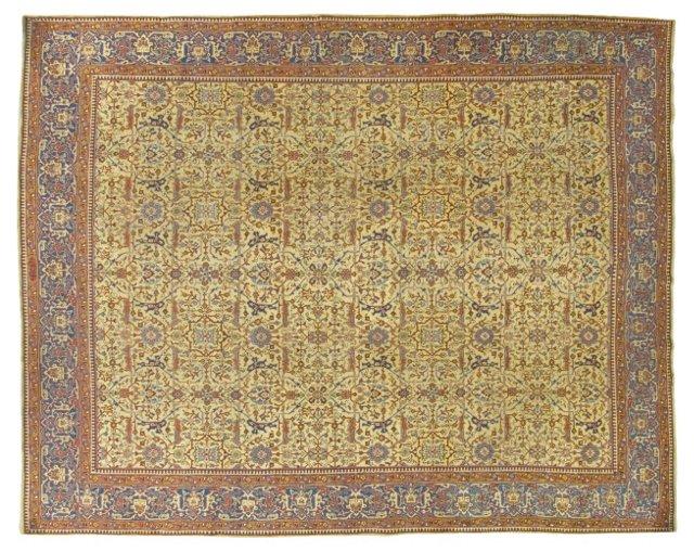 "Antique Tabriz, 10' x 12'6"""
