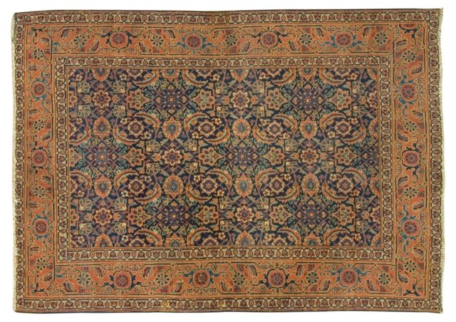 "Antique Hand-Knotted Tabriz, 4'7"" x 6'7"""