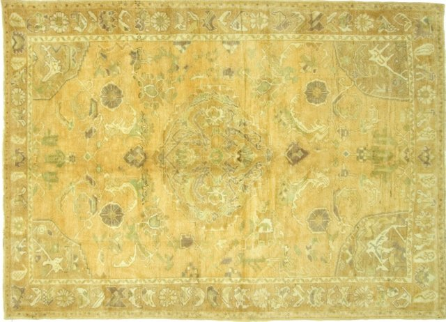 "Oushak Hand-Knotted Rug, 5'6"" x 8'3"""