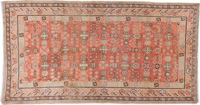 Antique Khotan, 5'3 x 9'10
