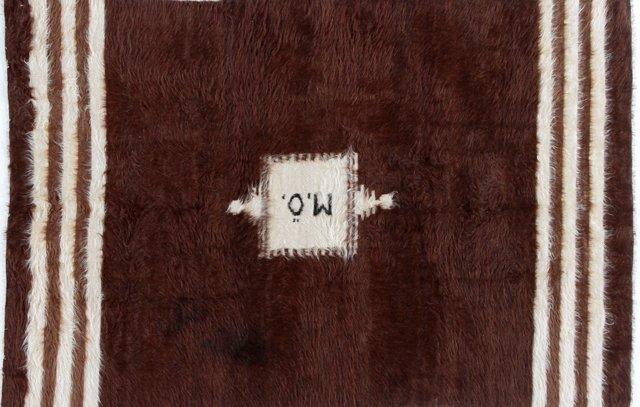 Ultra Soft Mohair Wool  Rug, 4'7 x6'10