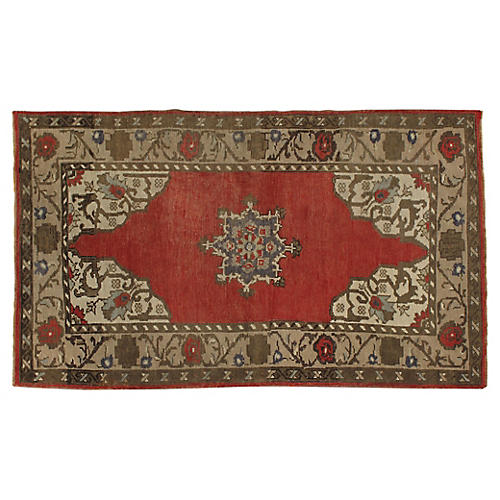 "Turkish Oushak Rug, 3'2"" x 5'5"""