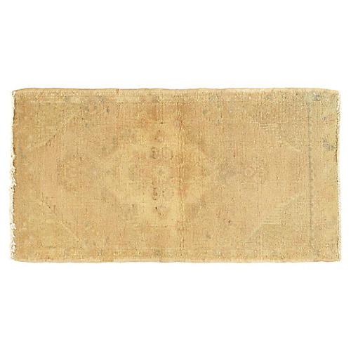 "Turkish Yastik Wool Rug, 1'7"" x 3'2"