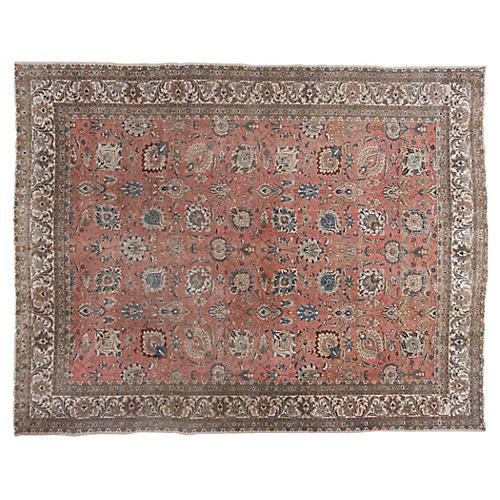 Persian Tabriz Rug, 10' x 13'