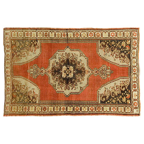 "Turkish Oushak Rug, 4'5"" x 6'10"""
