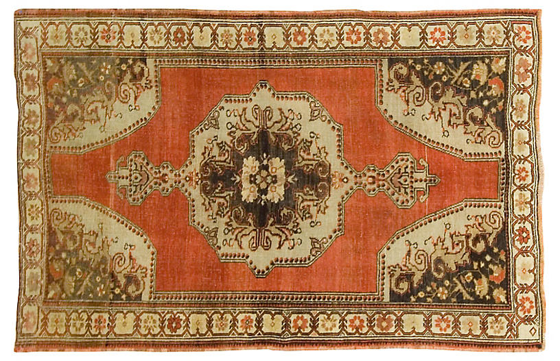Turkish Oushak Rug, 4'5