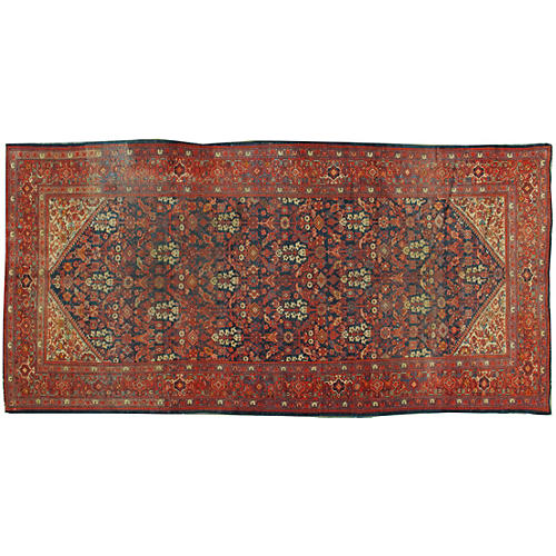 Antique Malayer Rug 6' x 12'10""