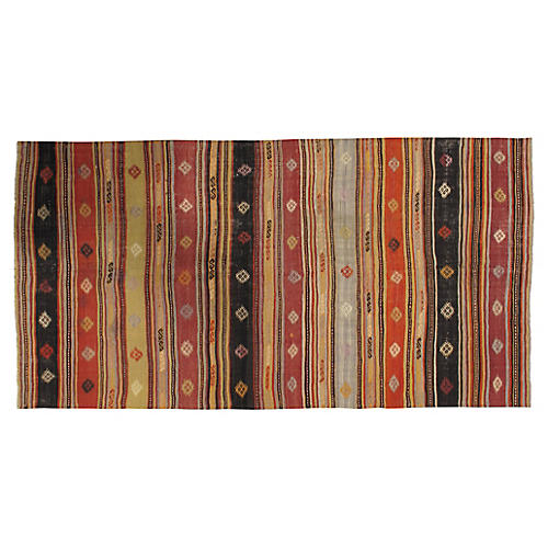 Turkish Kilim 4'9 x 9'4