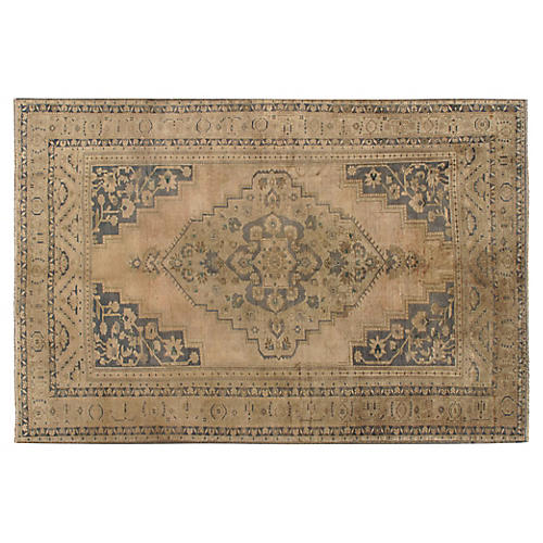 Turkish Oushak Rug, 6'6 x 9'11