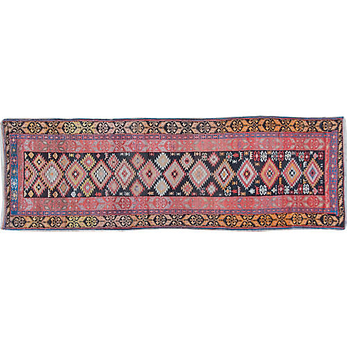 "Antique Karabagh Runner, 3'8"" x 11'7"""