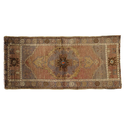 Turkish Yastik Rug, 1'8 x 3'8