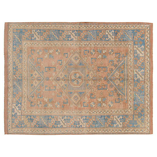 Turkish Oushak Rug 5'1 x 7'1
