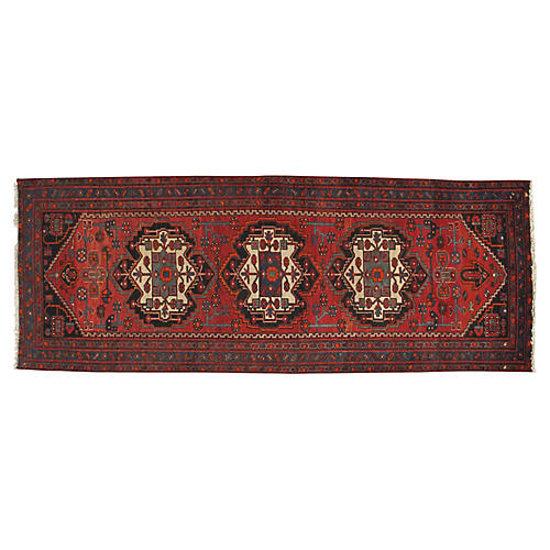 Persian Hand Knotted Runner, 3'11 x 10'