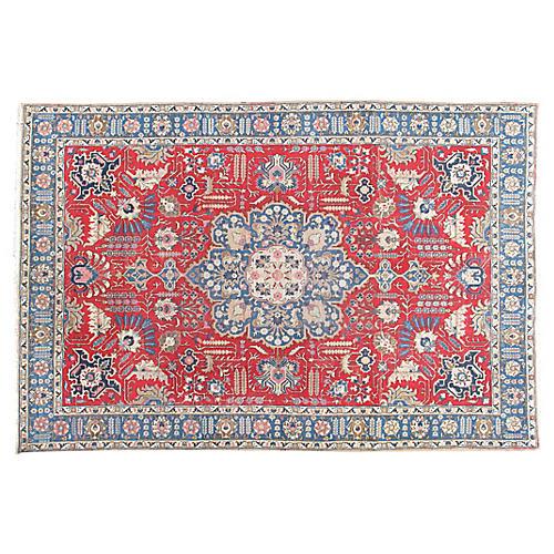 """Persian Tabriz Rug, 7' x 10'8"""""""