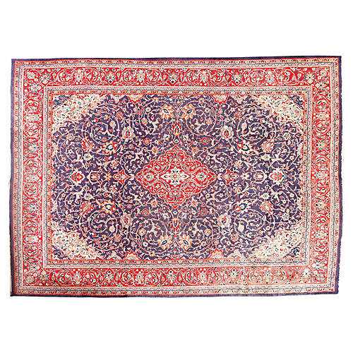 "Persian Sarouk Carpet, 9'6"" x 13'2"""