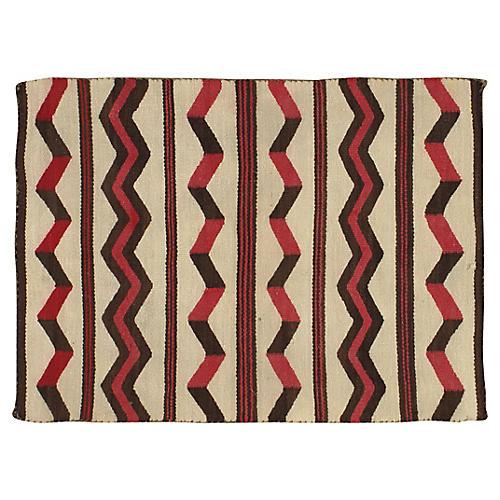 "Navajo-Style Flat-Weave Rug, 2'10"" x 4'"