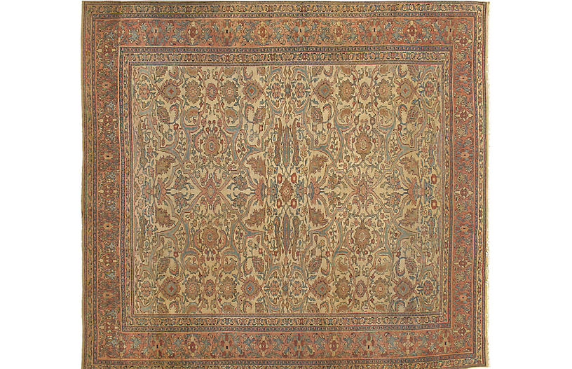 Antique Sarouk Carpet, 9' x 10'7
