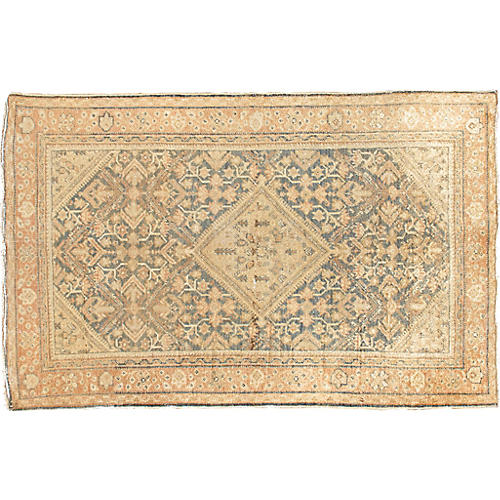 "Antique Mahal Rug, 4'3"" x 6'8"""
