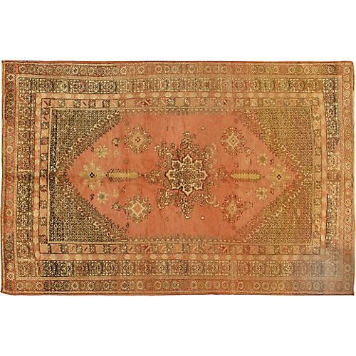 "Turkish Oushak Rug, 6'10"" x 10'4"""