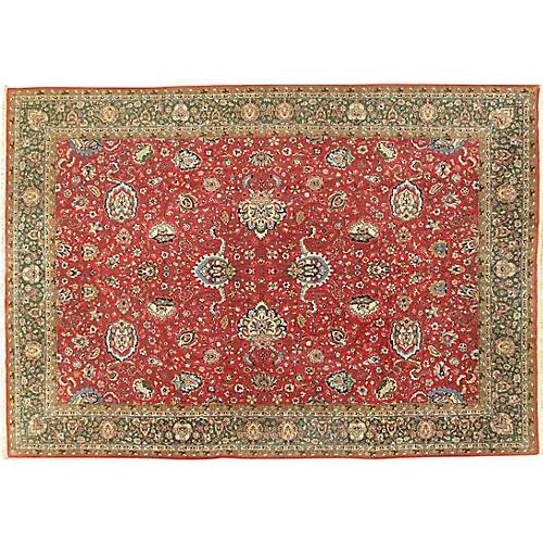 """Persian Tabriz Rug, 8'2"""" x 11'6"""""""