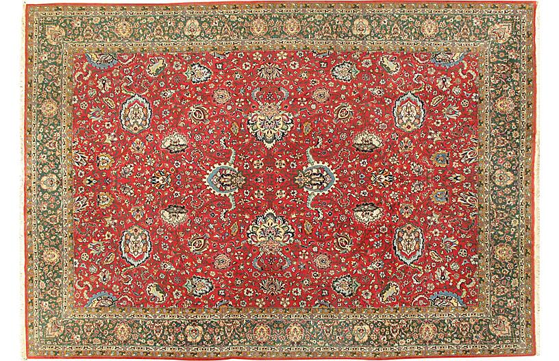 Persian Tabriz Rug, 8'2