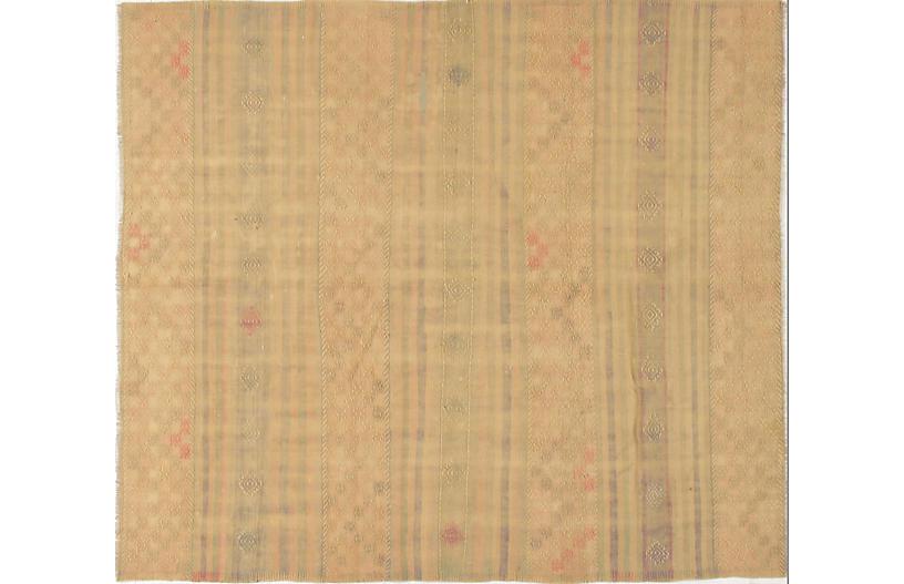 Turkish Embroidered Kilim, 5'7