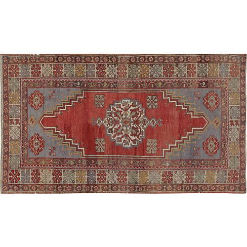 Turkish Oushak Rug, 3'9 x 6'3