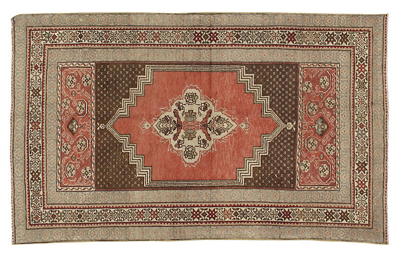 Turkish Oushak Rug 3'4 x 5'2