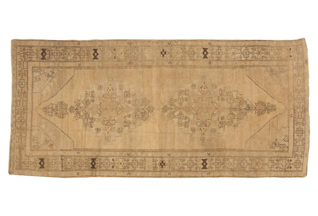 """Oushak Hand-Knotted Rug, 4'9"""" x10'9"""""""