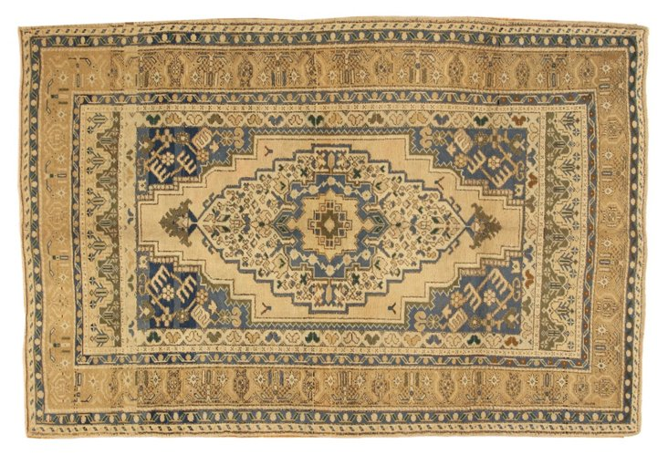 """Oushak Hand Knotted Rug, 4'7"""" x 6'9"""""""