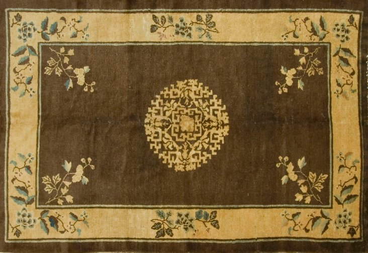 """Chinese Hand Knotted Rug, 5'3"""" x 7'9"""""""