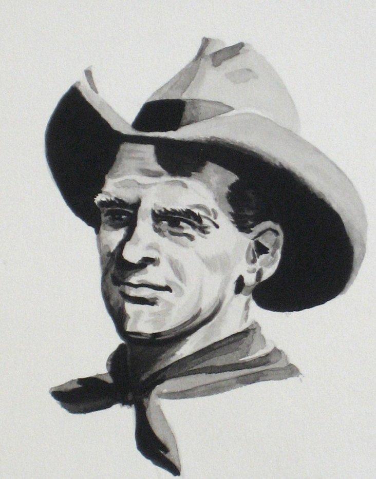 Nancy Sayner Cowboy Drawing, 1953