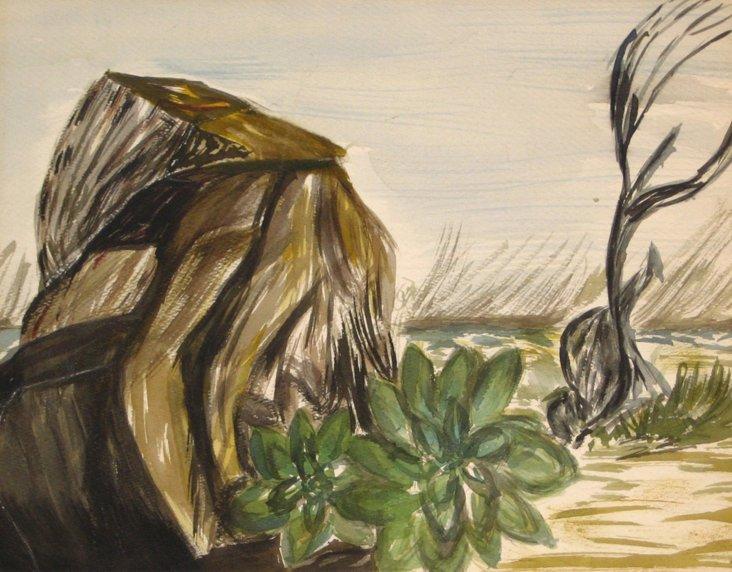 Watercolor   Desert   Scene