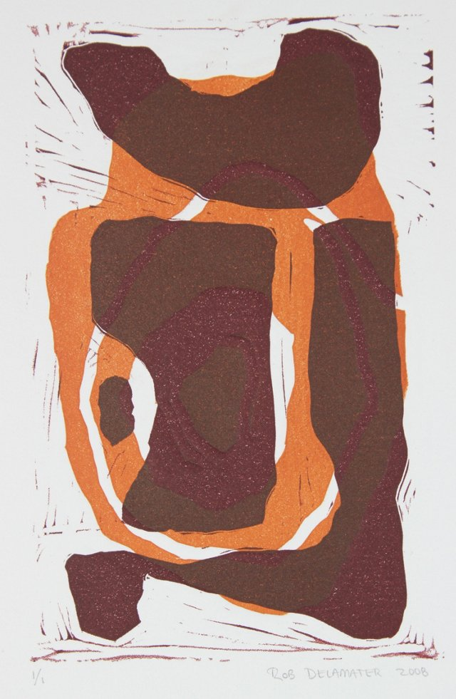 Abstract Block Print by Rob Delamater