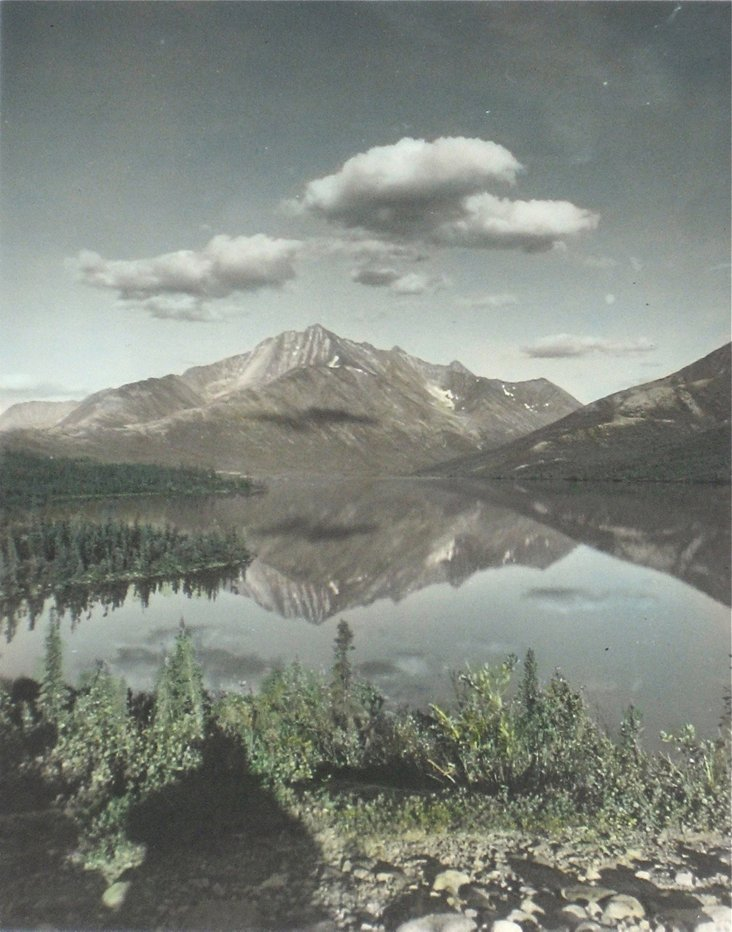 Hand-Colored Photograph of Lake