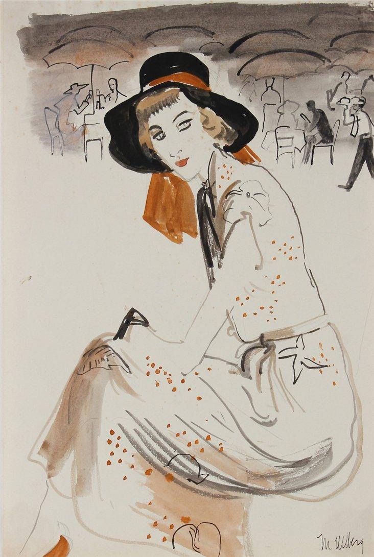 1950s Fashion & Cafe Scene