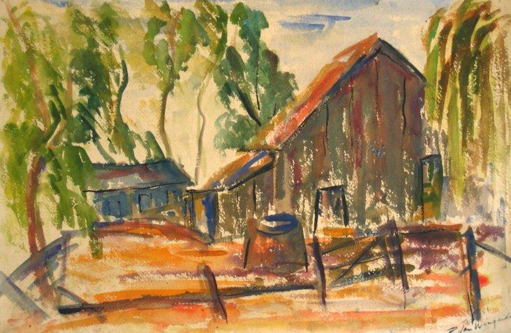 1950s  Barnyard, Van Wingerden