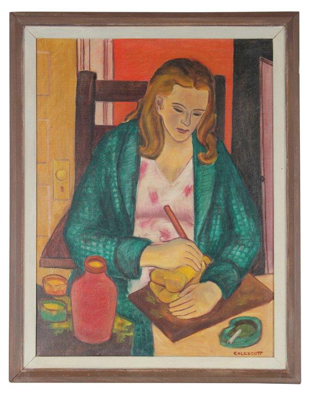 Artist Portrait by W.W. Colescott, 1947
