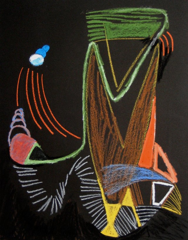Neon on Black Abstract, 1975