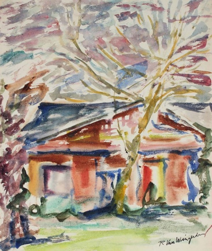 Landscape w/ House & Tree, 1940-50