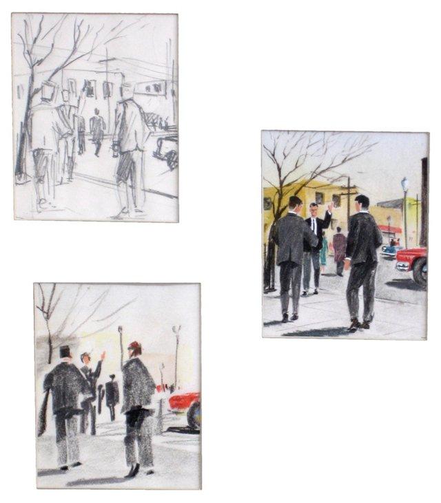 1960s Business Men Illustrations